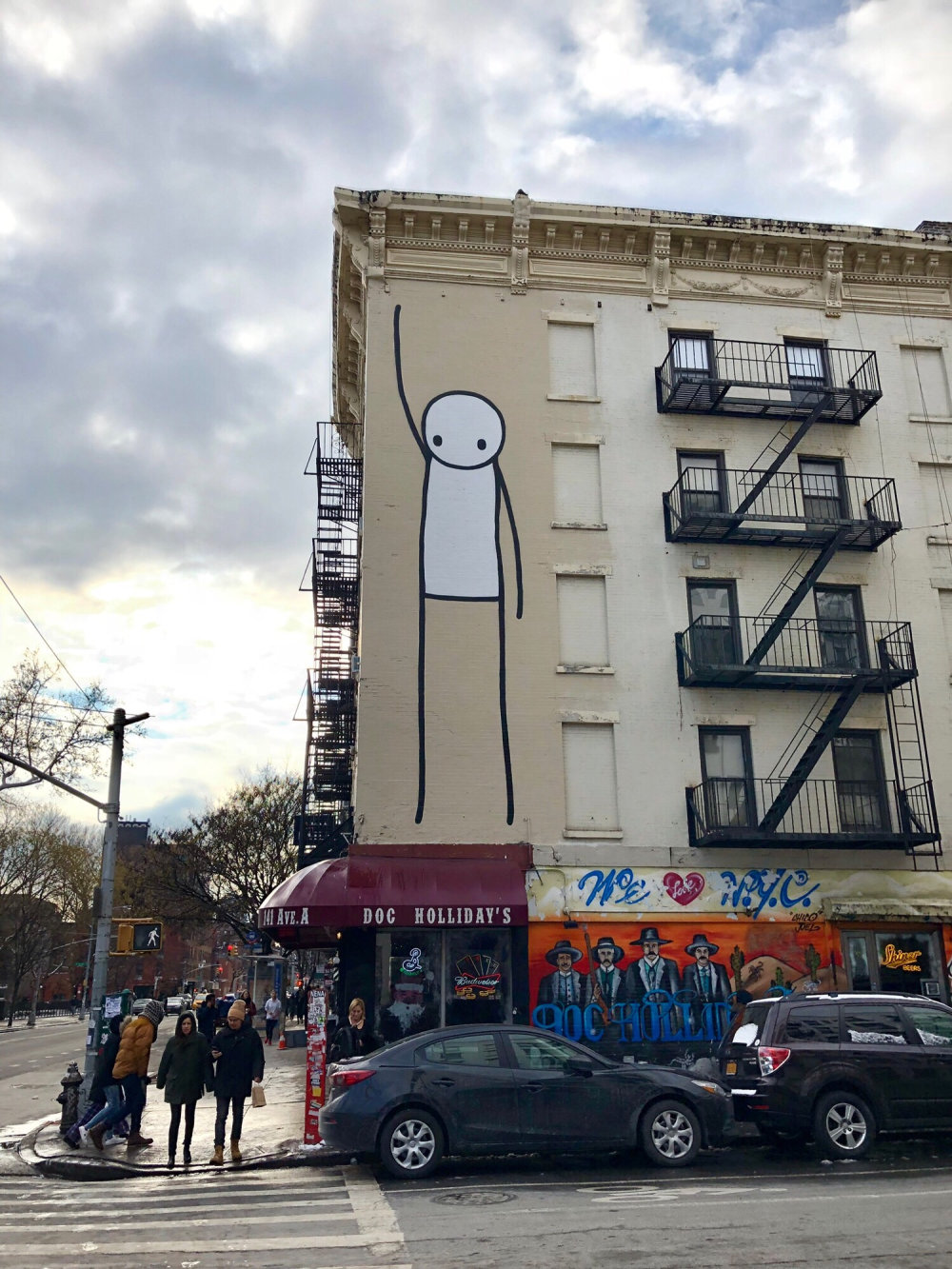 mural in New York by artist Stik