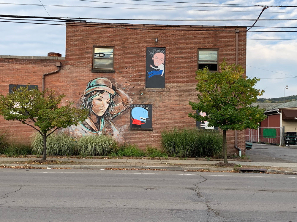 mural in Ithaca by artist Alice Pasquini