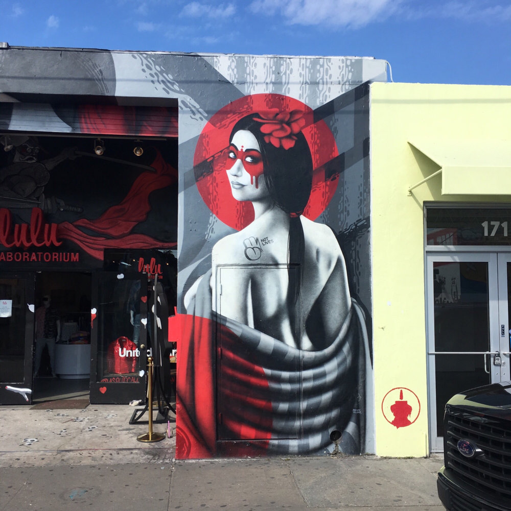 mural in Miami by artist Fin Dac