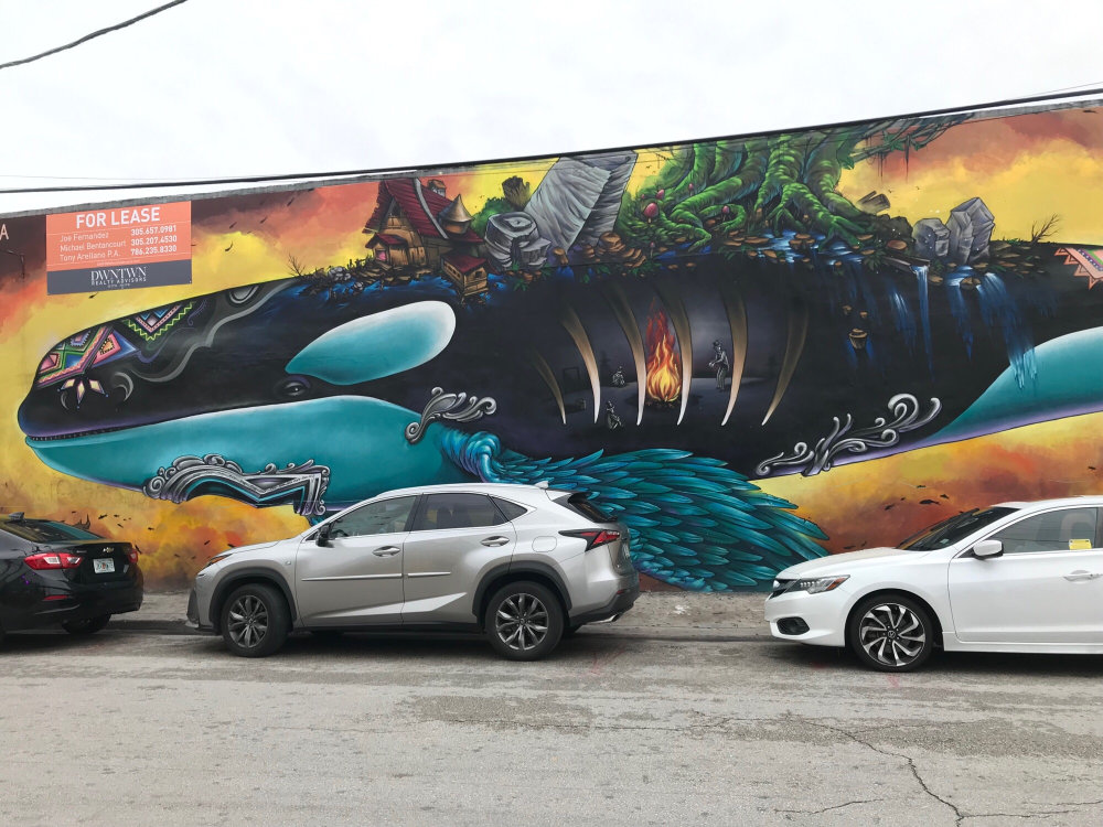 mural in Miami by artist Shalak