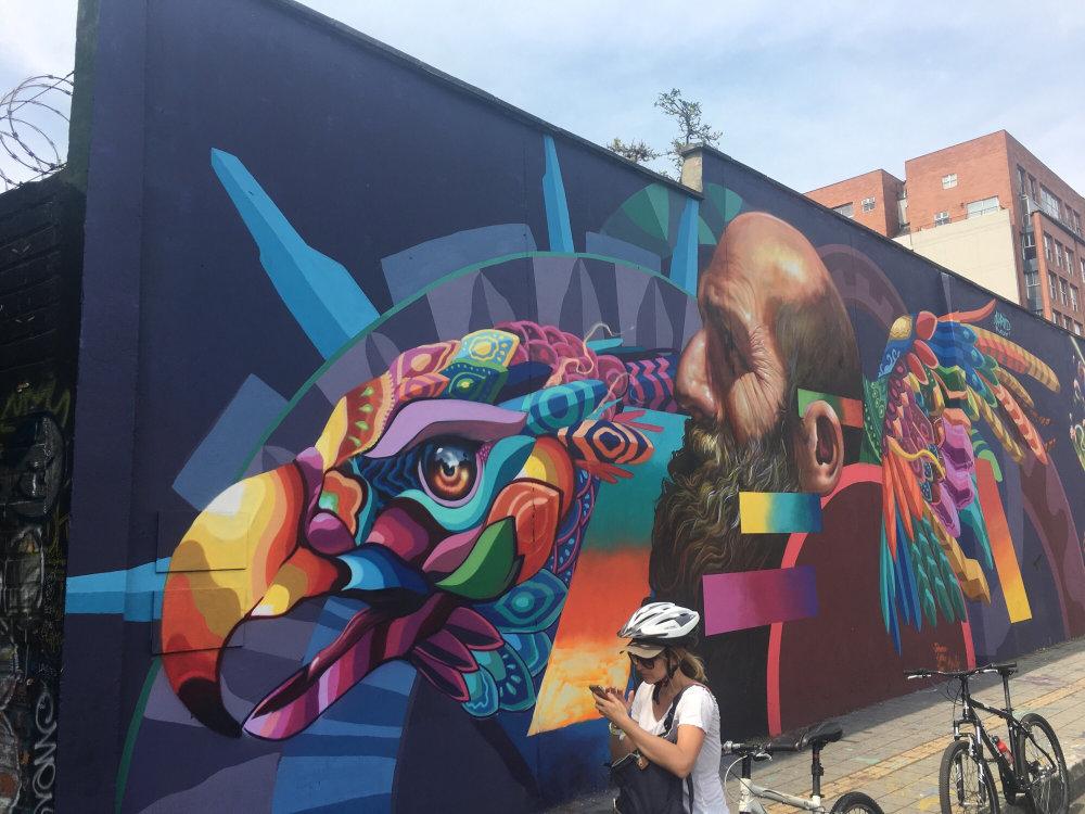 mural in Medellín by artist Farid Rueda