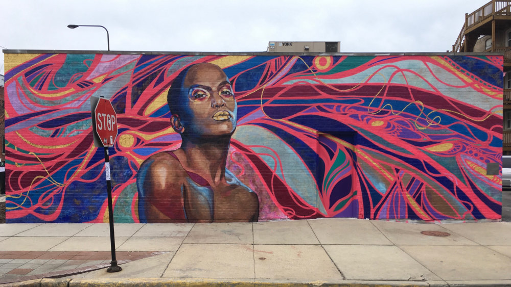 mural in Chicago by artist Sam Kirk