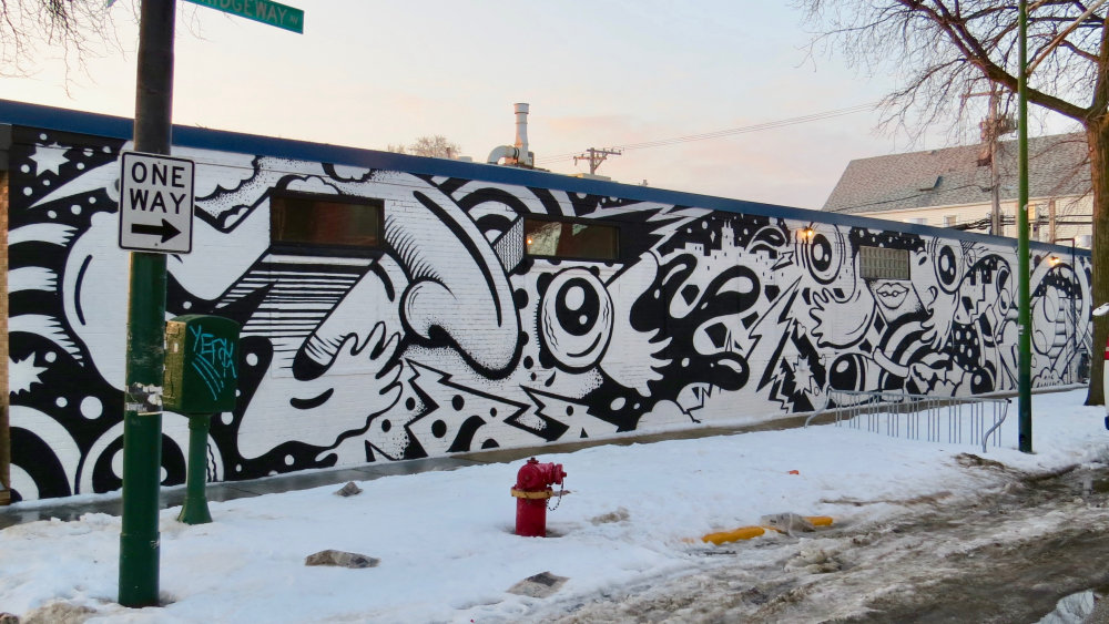 mural in Chicago by artist Mac Blackout