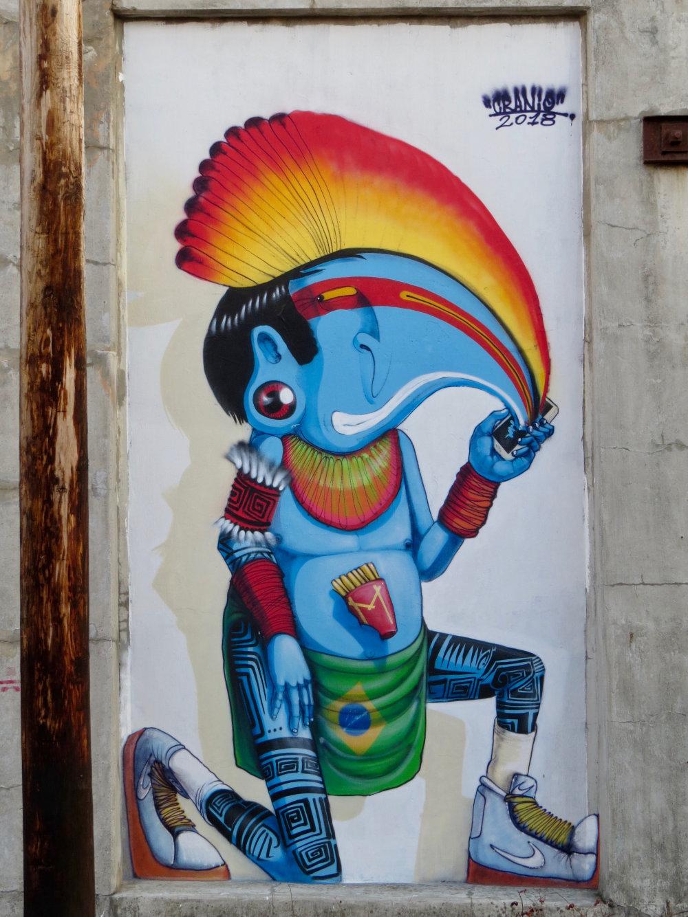 mural in Chicago by artist Cranio Artes