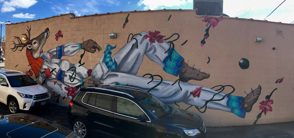 mural in Chicago by artist Diske Uno