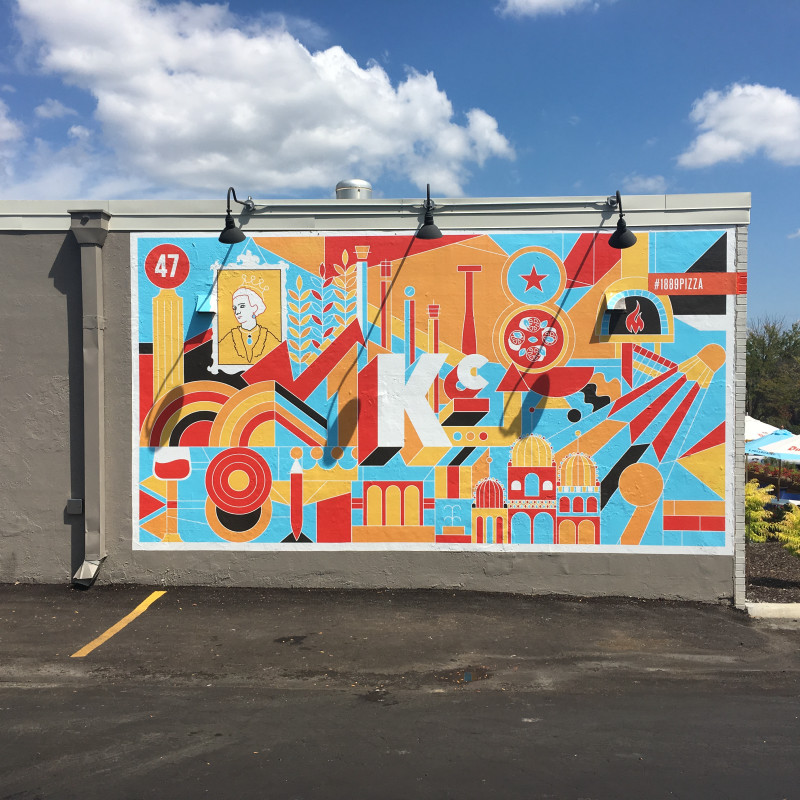 mural in  by artist Lance Flores