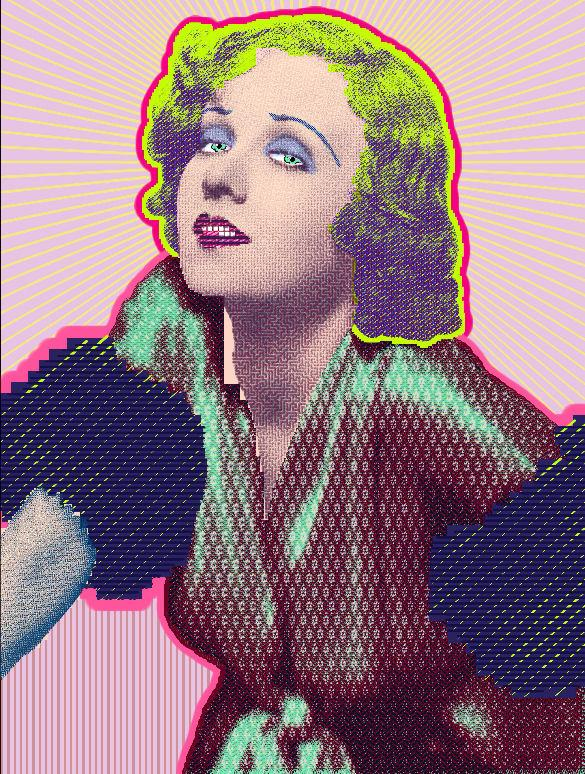 "painting by Matt Kane - ""Anita Page"""