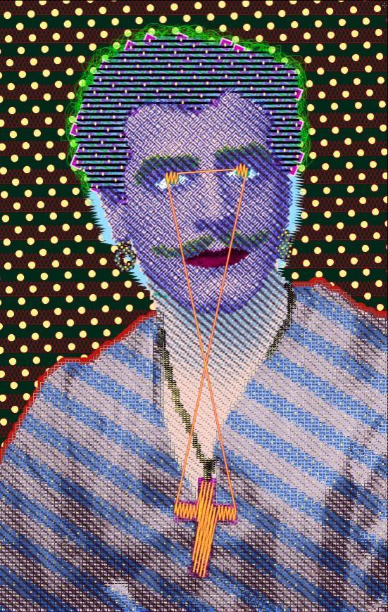 "painting by Matt Kane - ""Portrait of Matheson Lang"""