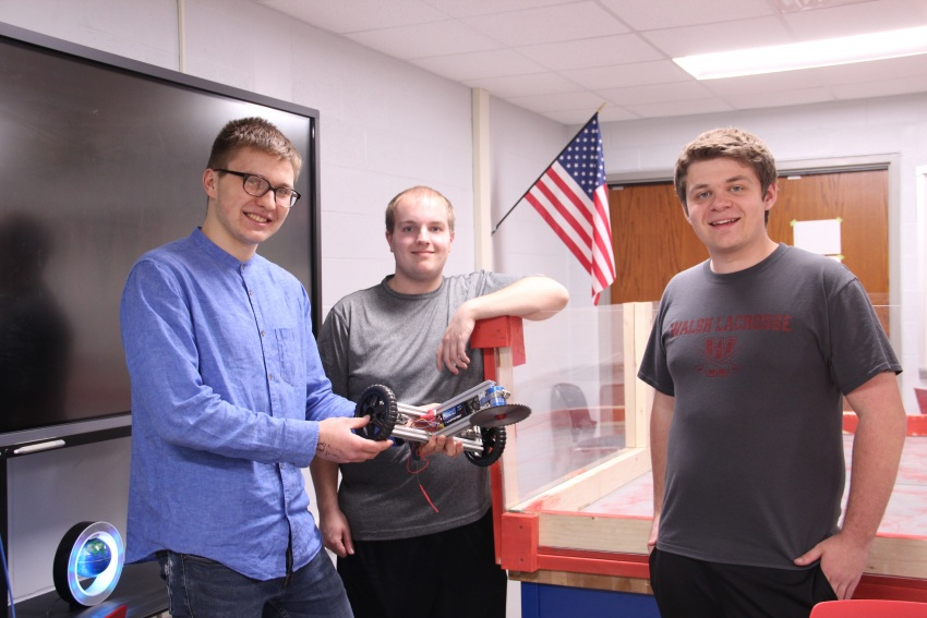 Students utilizing t-slot aluminum for Battle Bot Competition