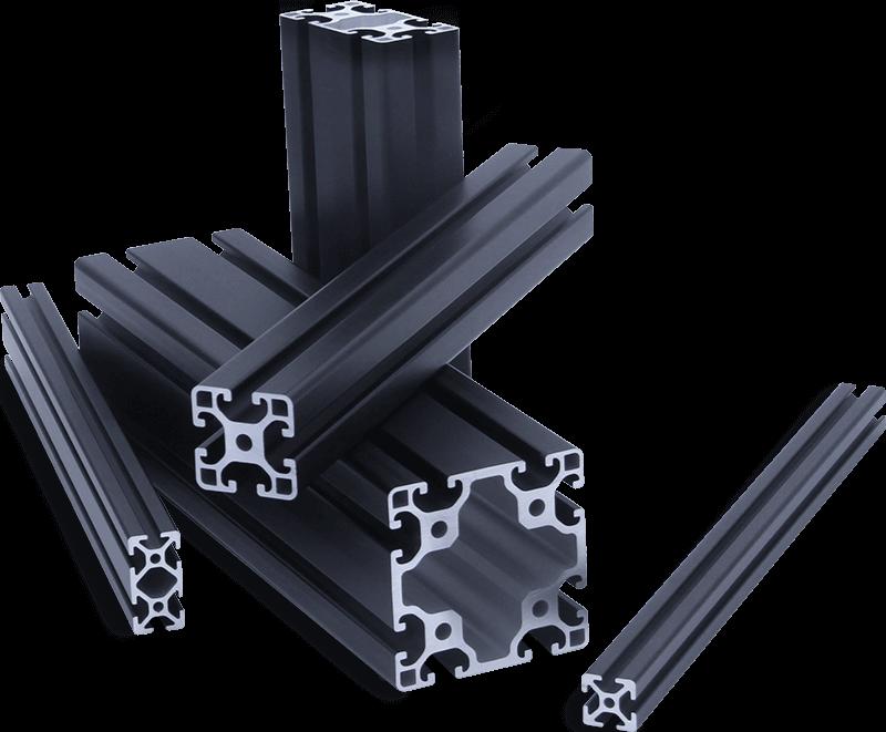 Black Extruded Aluminum Profile