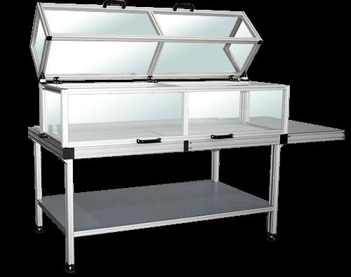 T-slotted aluminum enclosures
