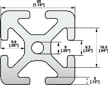 T-slot Aluminum Profile Line 6