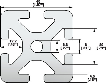 T-slot Aluminum Profile Line 8