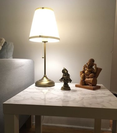 ikea-side-table-personalize-ganesha-statue-lamp