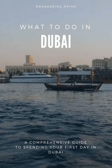 view of dubai creek from abra