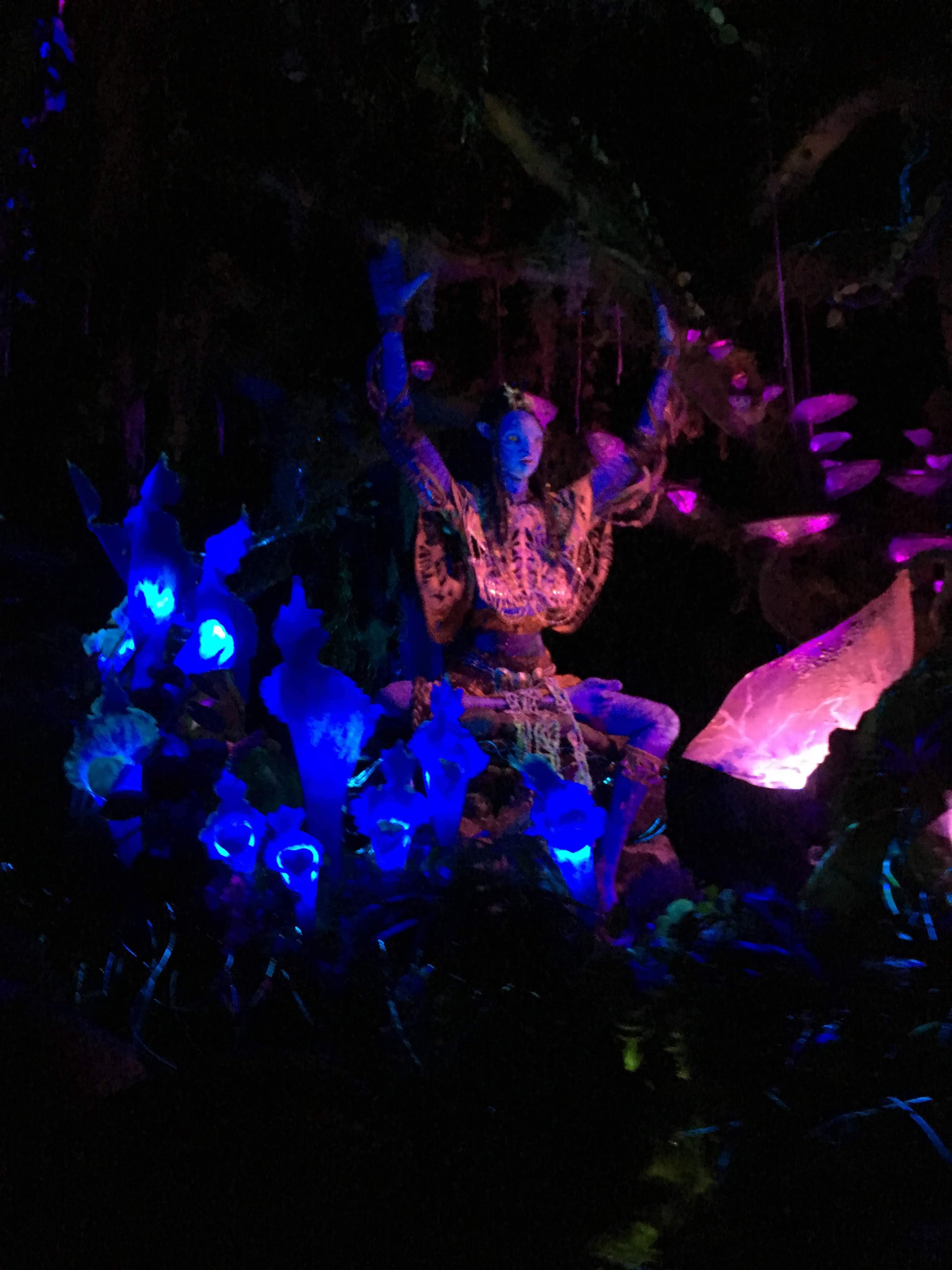 a view of the Na'avi river journey ride in Pandora, Animal Kingdom