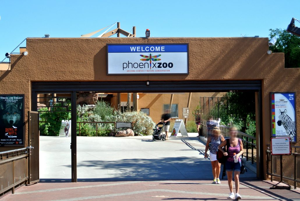 Phoenix Zoo Welcome Sign
