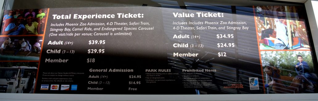 Phoenix Zoo Admission Prices