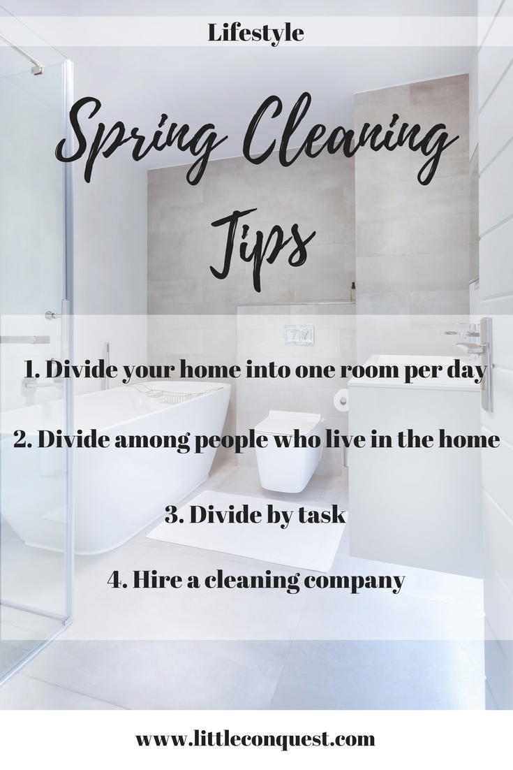 spring cleaning tips little conquest