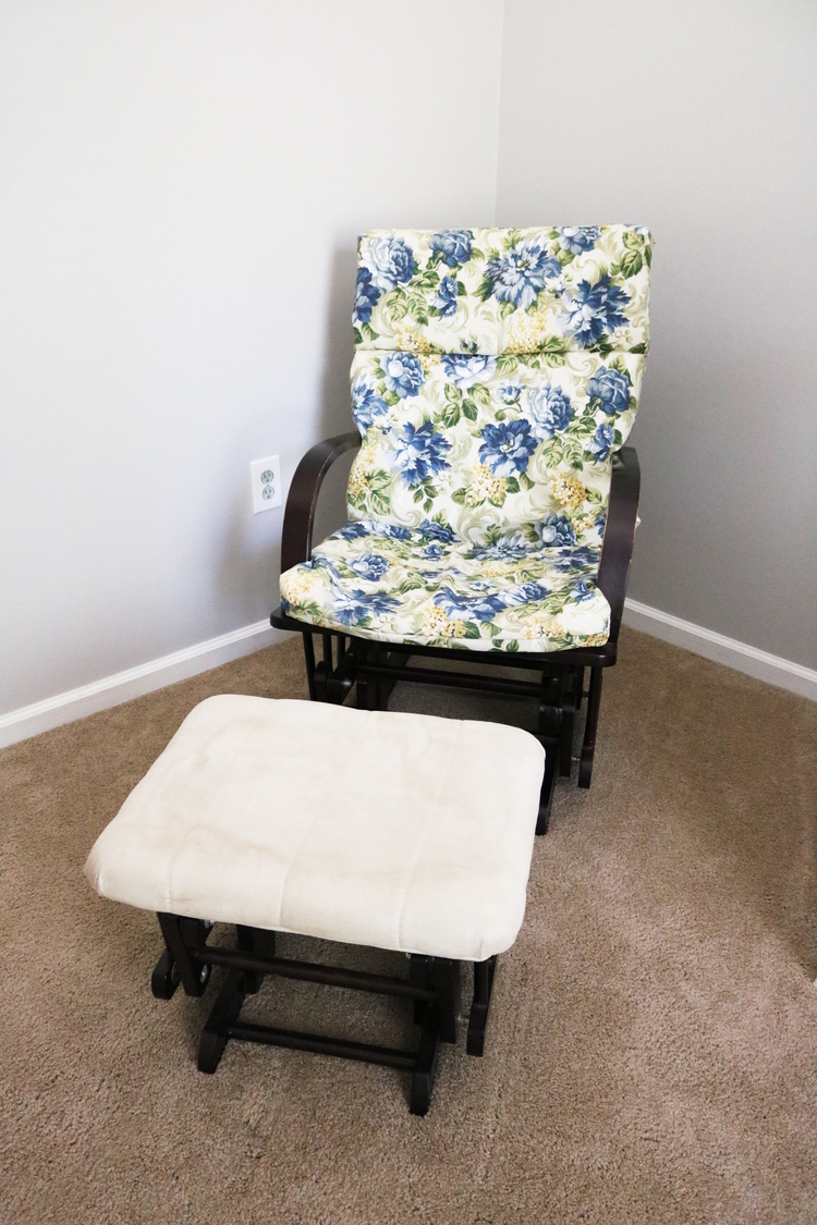 Diy Glider Chair And Ottoman Makeover Little Conquest