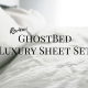 GhostBed, Luxury, Sheets, review, product, sponsored, bedding, bed, king size sheets, sheet set, twin, twin xl, full, queen, king, mattress, soft, durable, comfortable, quality, nature's sleep, natural, supima cotton, tencel fiber, light weight, ghostgrip, free shipping, 3 year warranty, white, gray, grey, silver, ghostbed luxe, washing, soft, lifestyle, momblogger, 2019, spring, winter, bedroom, bed sheets, pillowcases, fitted sheet, flat sheet