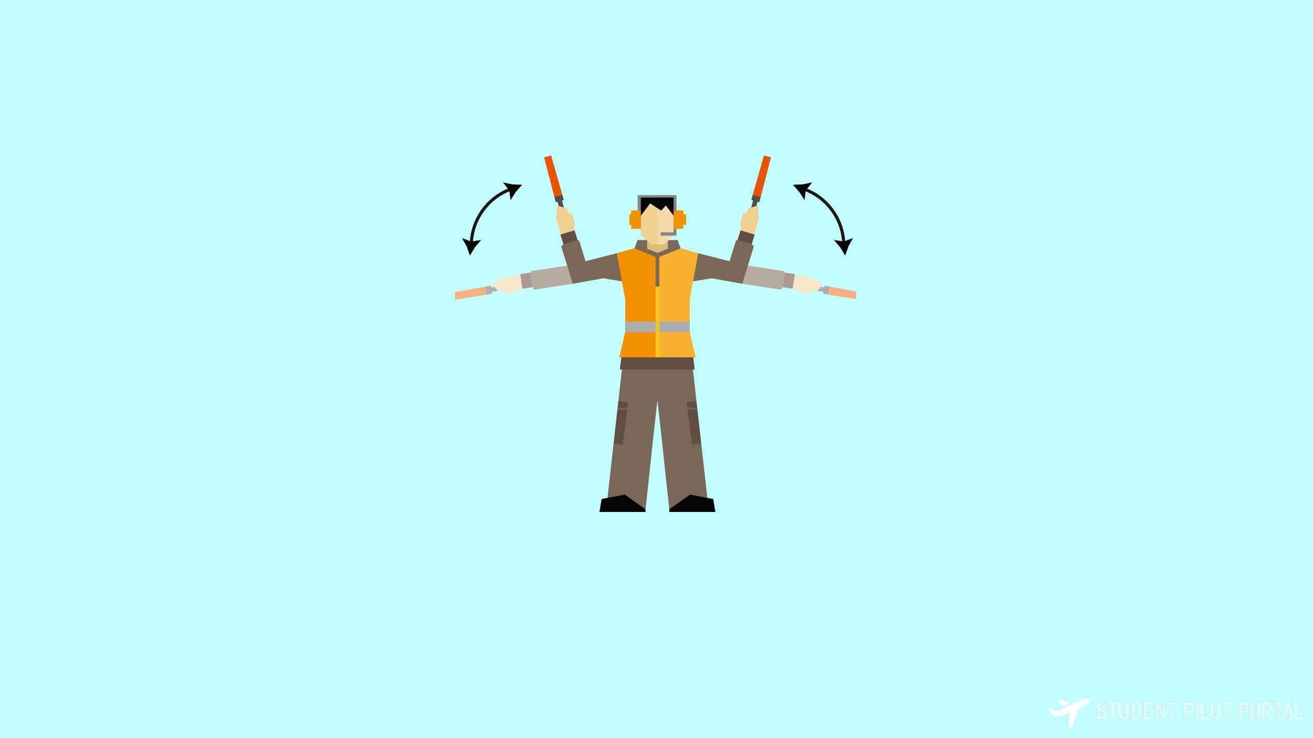 Basic Aircraft Ramp Hand Signals