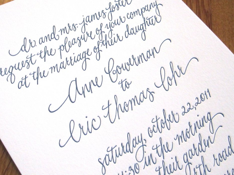 Kristen Henderson Calligraphy Charlotte NC – Free Calligraphy Fonts for Wedding Invitations