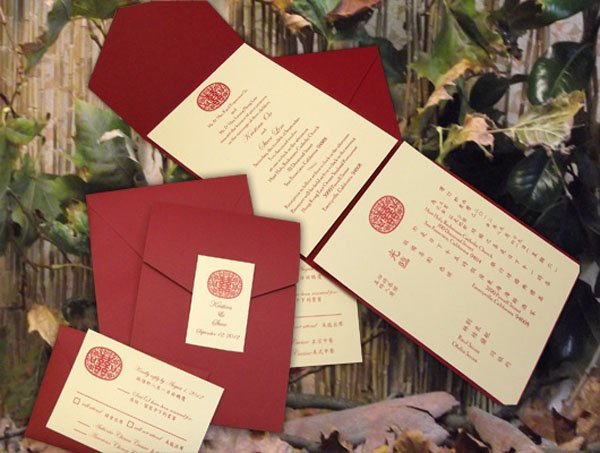Moment Printing San Francisco CA – Chinese English Wedding Invitations