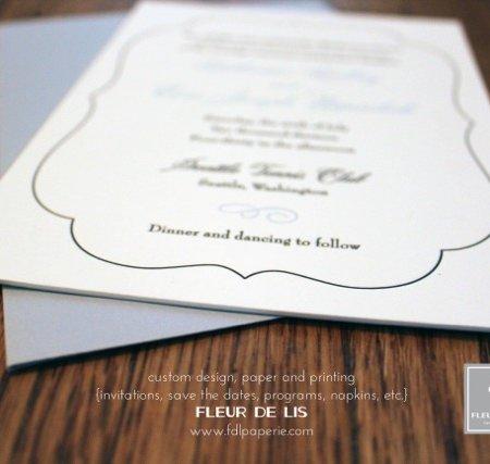 Fleur De Lis Custom Paperie