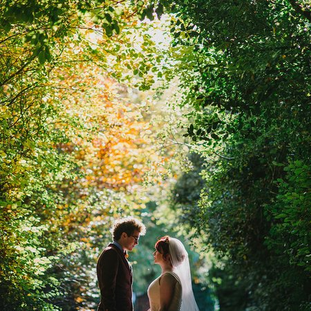 simple tapestry wedding photography