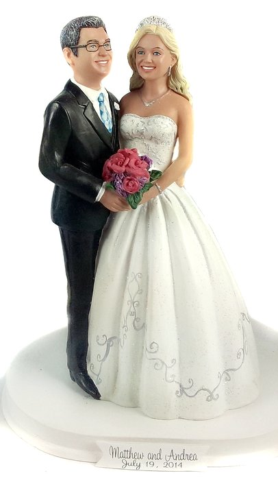 BobbleGram Custom Wedding Cake Toppers San Diego CA