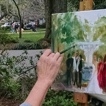 Live Event Painting by Ann Bailey Atlanta