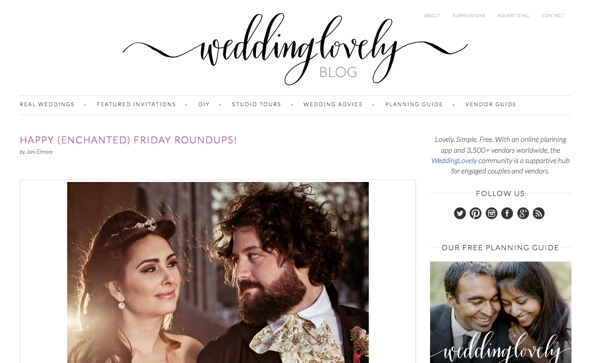 WeddingLovely Vendor Blog