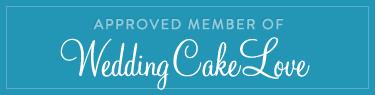 Rectangle weddingcakelove badge