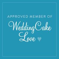 Square WeddingCakeLove badge
