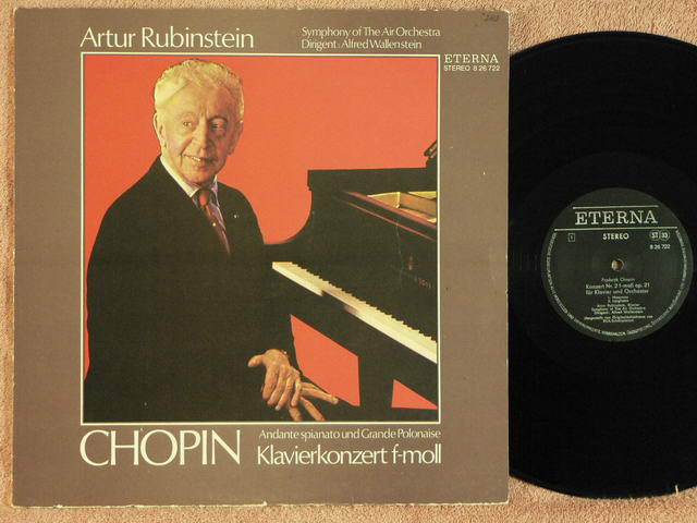 CHOPIN, FREDERIC - Concerto No. 2 - ARTUR RUBINSTEIN - 33T