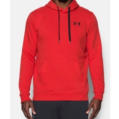 Picture of Under Armour Rival Fitted Pull-Over Red