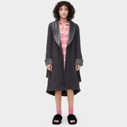 Picture of UGG® Ladies' Duffield Robe - Black Bear Heather