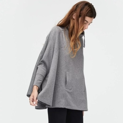 Picture of UGG® Ladies' Pichot Poncho - Charcoal Heather/X
