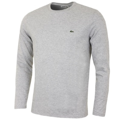 Picture of Lacoste Men's Long Sleeve Crewneck Tee Grey