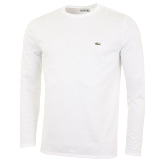 Picture of Lacoste Men's Long Sleeve Crewneck Tee White