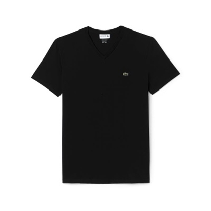 Picture of Lacoste Men's Short Sleeve V-Neck Tee Black