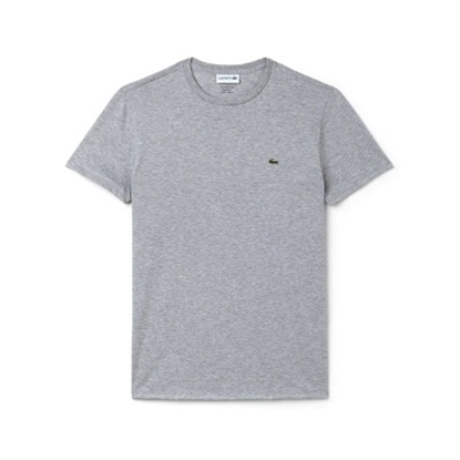 Picture of Lacoste Men's Short Sleeve Jersey Crewneck Grey