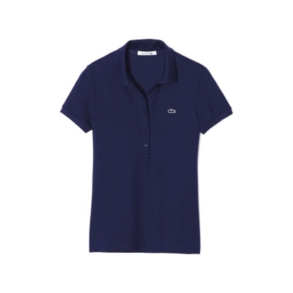 Picture of Lacoste Women's Short Sleeve Stretch Polo Navy
