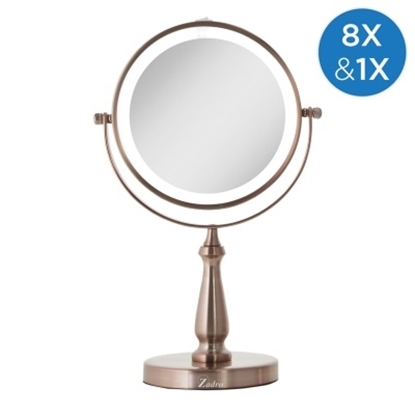 Picture of Zadro Cordless LED Vanity with 1X/8X Magnification - Rose Gold