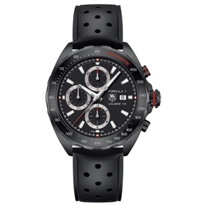 Picture of TAG Heuer Formula 1 Calibre 16 Watch with Full Black Strap