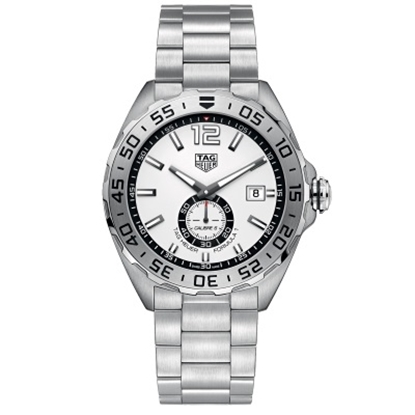 Picture of TAG Heuer Formula 1 Calibre 6 Steel Watch with White Dial