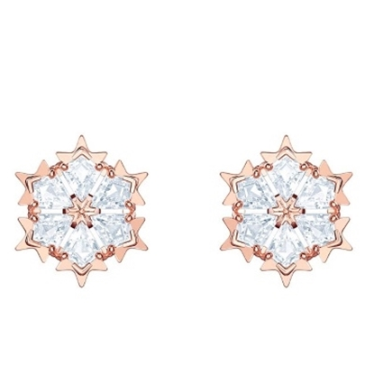 Picture of Swarovski Magic Pierced Earrings - Rose Gold