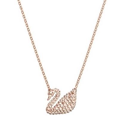 Picture of Swarovski Iconic Swan Rose Gold Shiny Pendant