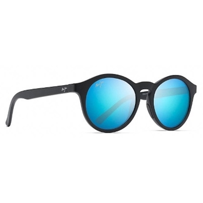 Picture of Maui Jim Pineapple Polarized Sunglasses - Black Matte/Blue